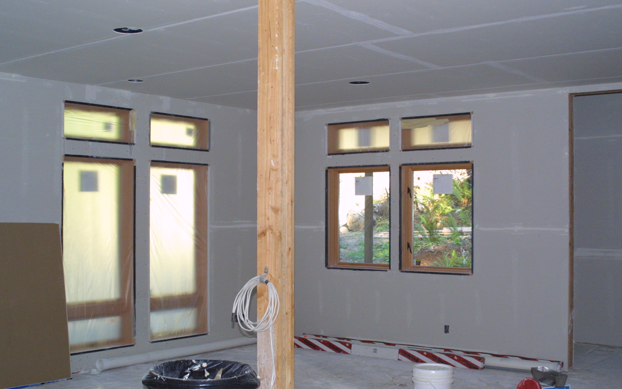 Carla 39 s building archive for Drywall designs living room